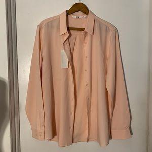 NWT Uniqlo Pink Button Down